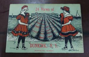 Dunkirk New York 24 Views Seashell Novelty Fold Out Views Postcard J926461