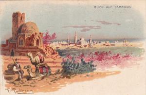 Blick auf DAMASCUS , Syrie , 1899 German Lottery Postcard