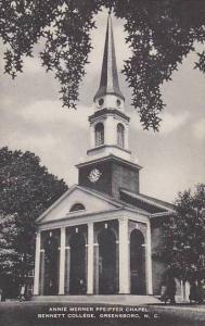 North Carolina Greensboro Annie Nerner Pfeiffer Chapel Bennett College Artvue