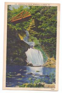 Marshalls Falls Marshalls Creek PA Vintage Linen Postcard