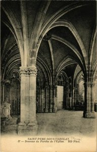 CPA Saint-Pere-sous-Vezelay - Dessous du Porche de l'Eglise FRANCE (961011)