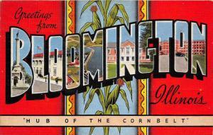 Illinois Bloomington  LARGE LETTER