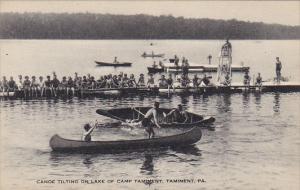 Canoe Tilting On Lake Camp Tamiment Tamiment Pennsylvania Artvue