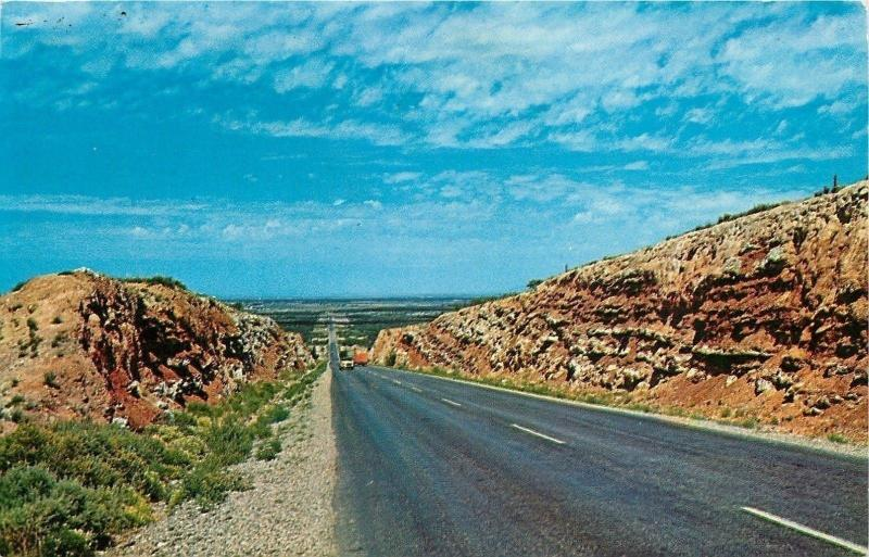 Roswell New Mexico~US Highway 380~Comanche Hill~1968 Postcard