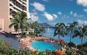 Sheraton Waikiki Pool , Waikiki Beach , Hawaii , 60-70s