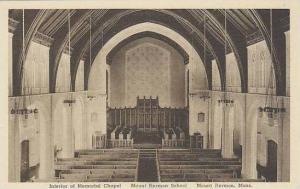 Massachusetts Mount IOnterior Of Memorial Chapel Mount Hermon School Albertype