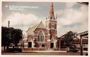 Australia, St. Paul's Presbyterian Church Lismore N.S.W., auto cars truck