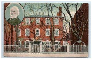 Postcard Longfellow House, Portland ME Maine G33