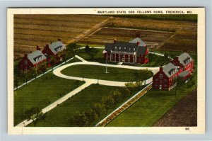Frederick MD-Maryland, Maryland State Odd Fellows Home, Linen Postcard