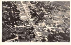 Grants Pass Oregon panoramic birds eye view of area real photo pc Z12414