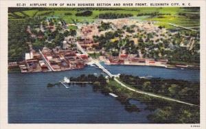 Airplaine View Of Main Business Section And River Front Elizabeth City North ...