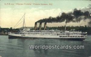 British Columbia, Canada CPR SS Princess VictoriaHarbour Victoria Harbour Har...