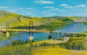 Canada Dunvegan Suspension Bridge Peace River Alberta