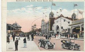REVERE BEACH , Mass. , 1924 ; Boulrvard Looking South