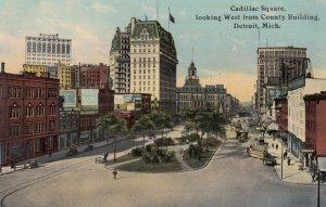 DETROIT , Michigan , 1900-10s ; Cadillac Square