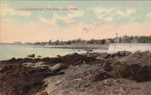LYNN, Massachusetts; Lynn Boulevard and Sea Wall, PU-1905