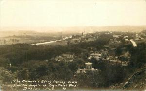 Birdseye Dubuque Iowa Eagle Point Park 1936 RPPC Photo Postcard 263