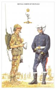 Postcard The British Army Series No.20 Royal Corps of Signals by Geoff White
