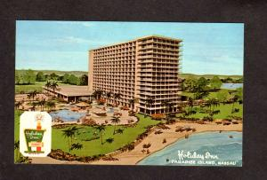 Bahamas Holiday Inn Hotel Paradise Island Nassau Postcard Pirates Cove