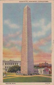 Massachusetts Boston Bunker Hill Monument Charlestown 1952