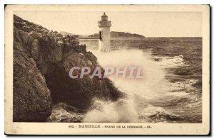 Old Postcard Marseille Lighthouse Desirade