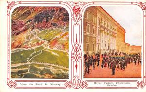 Norway Old Vintage Antique Post Card Mountain Road, Royal Palace, Stockholm U...
