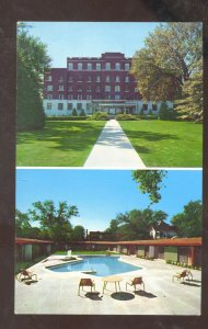 SPRINGFIELD MISSOURI KENTWOOD ARMS MOTEL SWIMMING POOL POSTCARD MO