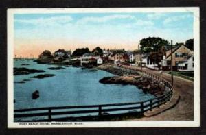 MA View of Fort Beach Drive MARBLEHEAD MASS PC Postcard