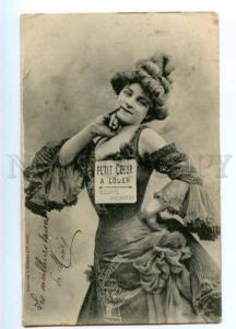 177316 Belle DANCER Vaudeville HEART for RENT Vintage PC