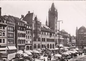 Switzerland Basel Marktplatz und Rathaus Photo