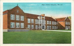 Columbia Missouri~High School~1930 Postcard