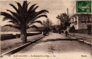CPA JUAN-les-PINS - Le Boulevard de la Plage (514303)