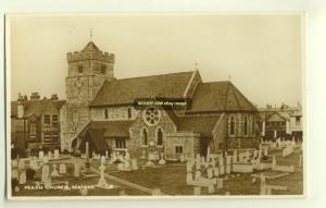 cu1088 - Parish Church , Seaford , Sussex - postcard