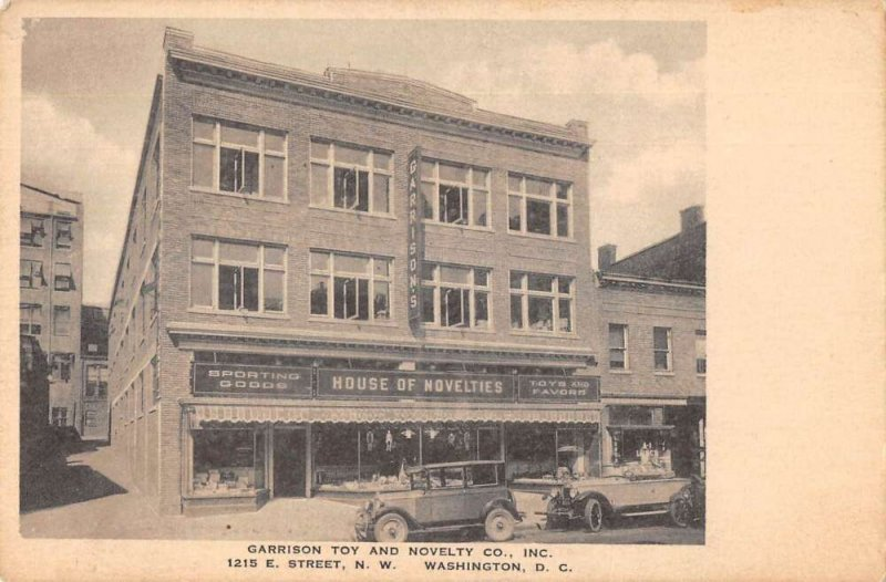 Washington DC Garrison Toy and Novelty Co Store Vintage Postcard AA21686
