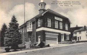 Pen Argyl Pennsylvania Municipal Building Town Hall Antique Postcard J67218