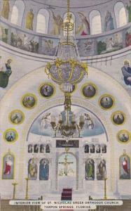 Florida Tarpon Springs Interior View Of Saint Nicholas Greek Orthodox Church ...