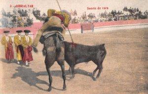 US3091 Spain Gibraltar Suerte de Vara Bull Fight corrida
