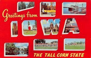 Iowa~Landmarks In Iowa~1960 Postcard