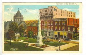 Nixon Hotel, Butler, Pennsylvania, PU-1925