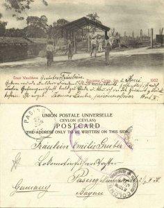 ceylon, Ragama POW Camp BOER WAR Laundry Room 1902 Sent by Prisoner 2802 Lauber