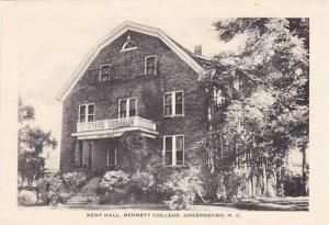 North Carolina Greensboro Bennett College Kent Hall Artvue