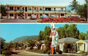 Crown Motel Penticton BC Lakeshore Dr. Multiview Unused Vintage Postcard E15