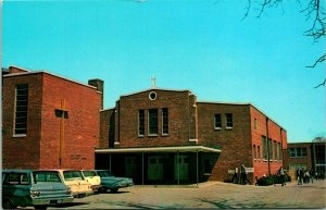 Dover DE Holy Cross Church and School Postcard unused (16433)
