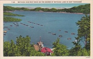 Watauga Dam Boat Dock On The Shores Of Watauga Lake In East Tennessee
