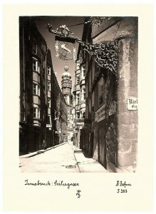 Autriche, Innsbruck, Rue Scène & Voyage Diaryt 1970s B & Avec 4.5 x 6
