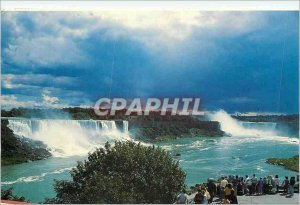 Modern Postcard Niagara Falls Canada the American Falls and the Canadian Iron...