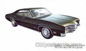 1970 Montego MX Brougham Auto, Automobile, Car, Postcard Post Card  1970 mont...