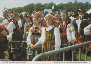 Polish Poland Costume Visitors to Exhibition Essex Womens Institute Postcard
