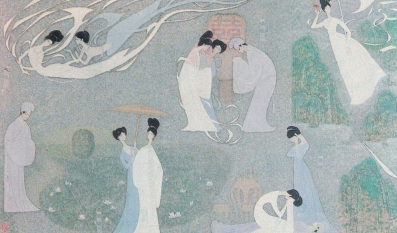 Civil Aviation Administration of China; Mural The White Snake , 1950-60s
