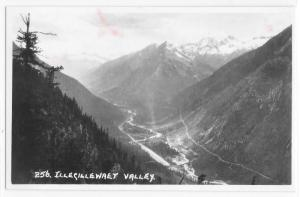 RPPC Real Photo Postcard Illecillewaet Valley Glacier Park Canada Columbia Mts